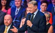 18 January 2020; Former Ireland rugby head coach Joe Schmidt speaking at the Conferring of the Honorary Freedom of Dublin City on Jim Gavin ceremony in the Round Room at the Mansion House, in Dawson St, Dublin. Photo by Brendan Moran/Sportsfile