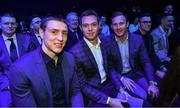 18 January 2020; Dublin footballers, from left, John Small, Dean Rock and Ciarán Kilkenny in attendance at the Conferring of the Honorary Freedom of Dublin City on Jim Gavin ceremony in the Round Room at the Mansion House, in Dawson St, Dublin. Photo by Brendan Moran/Sportsfile