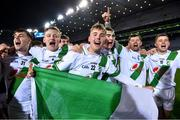 18 January 2020; Jim Moore of Tullaroan, centre, and his team-mates celebrate after the AIB GAA Hurling All-Ireland Intermediate Club Championship Final between Fr. O'Neill's and Tullaroan at Croke Park in Dublin. Photo by Piaras Ó Mídheach/Sportsfile