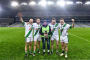 18 January 2020; Tullaroan mentor Mickey Walsh, centre, with his sons, from left, Tommy, Pádraig, Martin, and Shane as they celebrate with the cup after the AIB GAA Hurling All-Ireland Intermediate Club Championship Final between Fr. O'Neill's and Tullaroan at Croke Park in Dublin. Photo by Piaras Ó Mídheach/Sportsfile