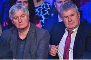 18 January 2020; Former Sunday Game broadcaster Michael Lyster, left, and former Dublin footballer Charlie Redmond in attendance at the Conferring of the Honorary Freedom of Dublin City on Jim Gavin ceremony in the Round Room at the Mansion House, in Dawson St, Dublin. Photo by Brendan Moran/Sportsfile