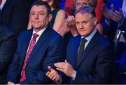 18 January 2020; Foemer Ireland rugby head coach Joe Schmidt, right, in attendance at the Conferring of the Honorary Freedom of Dublin City on Jim Gavin ceremony in the Round Room at the Mansion House, in Dawson St, Dublin. Photo by Brendan Moran/Sportsfile