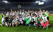 18 January 2020; Tullaroan players and supporters celebrate after the AIB GAA Hurling All-Ireland Intermediate Club Championship Final between Fr. O'Neill's and Tullaroan at Croke Park in Dublin. Photo by Piaras Ó Mídheach/Sportsfile