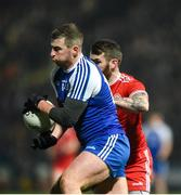 18 January 2020; Keith McEnaney of Monaghan in action against Ronan McNamee of Tyrone during the Bank of Ireland Dr McKenna Cup Final between Monaghan and Tyrone at Athletic Grounds in Armagh. Photo by Oliver McVeigh/Sportsfile