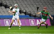 18 January 2020; Tullaroan captain Shane Walsh scores the winning point in injury time as Thomas Millerick of Fr. O'Neill's closes him down during the AIB GAA Hurling All-Ireland Intermediate Club Championship Final between Fr. O'Neill's and Tullaroan at Croke Park in Dublin. Photo by Piaras Ó Mídheach/Sportsfile