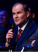 18 January 2020; RTÉ Gaelic Games Correspondent Brian Carthy speaking at the Conferring of the Honorary Freedom of Dublin City on Jim Gavin ceremony in the Round Room at the Mansion House, in Dawson St, Dublin. Photo by Ray McManus/Sportsfile