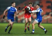 18 January 2020; Michael O'Neill of Tyrone in action against Niall Kearns and Dessie Ward of Monaghan during the Bank of Ireland Dr McKenna Cup Final between Monaghan and Tyrone at Athletic Grounds in Armagh. Photo by Oliver McVeigh/Sportsfile