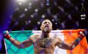 18 January 2020; Conor McGregor following his UFC 246 Welterweight bout victory over Donald Cerrone at the T-Mobile Arena in Las Vegas, Nevada, USA. Photo by Mark J. Rebilas / USA TODAY Sports via Sportsfile