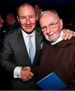 18 January 2020; Former Dublin GAA football team manager Jim Gavin with Br. Kevin Crowley at the Conferring of the Honorary Freedom of Dublin City on Jim Gavin ceremony in the Round Room at the Mansion House, in Dawson St, Dublin. Photo by Ray McManus/Sportsfile