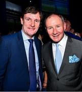 18 January 2020; Former Dublin GAA football team manager Jim Gavin with the former Dublin, Manchester United and Republic of Ireland player Kevin Moran at the Conferring of the Honorary Freedom of Dublin City on Jim Gavin ceremony in the Round Room at the Mansion House, in Dawson St, Dublin. Photo by Ray McManus/Sportsfile