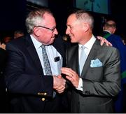 18 January 2020; Former Dublin GAA football team manager Jim Gavin with another former Dublin player and manager Dr Pat O'Neill at the Conferring of the Honorary Freedom of Dublin City on Jim Gavin ceremony in the Round Room at the Mansion House, in Dawson St, Dublin. Photo by Ray McManus/Sportsfile