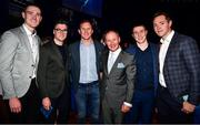 18 January 2020; Former Dublin GAA football team manager Jim Gavin with Dublin footballers, from left, Brian Fenton, Paddy Andrews, Ciarán Kilkenny, John Small and Dean Rock at the Conferring of the Honorary Freedom of Dublin City on Jim Gavin ceremony in the Round Room at the Mansion House, in Dawson St, Dublin. Photo by Ray McManus/Sportsfile
