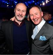 18 January 2020; Former Dublin GAA football team manager Jim Gavin with former Dublin star Paul Curran at the Conferring of the Honorary Freedom of Dublin City on Jim Gavin ceremony in the Round Room at the Mansion House, in Dawson St, Dublin. Photo by Ray McManus/Sportsfile