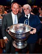 18 January 2020; Former Dublin GAA football team manager Jim Gavin with  Dublin supporter 'Dublin Jerry' Gowran at the Conferring of the Honorary Freedom of Dublin City on Jim Gavin ceremony in the Round Room at the Mansion House, in Dawson St, Dublin. Photo by Ray McManus/Sportsfile