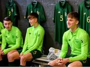 20 January 2020; Cathal Heffernan of Republic of Ireland, right, during a briefing prior to the International Friendly match between Republic of Ireland U15 and Australia U17 at FAI National Training Centre in Abbotstown, Dublin. Photo by Seb Daly/Sportsfile