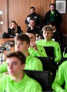 20 January 2020; Sam Curtis of Republic of Ireland during a squad meeting prior to the International Friendly match between Republic of Ireland U15 and Australia U17 at FAI National Training Centre in Abbotstown, Dublin. Photo by Seb Daly/Sportsfile