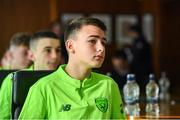 20 January 2020; Luke O'Brien of Republic of Ireland during a squad meeting prior to the International Friendly match between Republic of Ireland U15 and Australia U17 at FAI National Training Centre in Abbotstown, Dublin. Photo by Seb Daly/Sportsfile