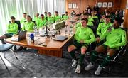 20 January 2020; Republic of Ireland players during a squad meeting prior to the International Friendly match between Republic of Ireland U15 and Australia U17 at FAI National Training Centre in Abbotstown, Dublin. Photo by Seb Daly/Sportsfile