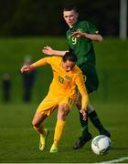18 January 2020; Cassidy Tanddo of Australia in action against Liam Murray of Republic of Ireland during the International Friendly match between Republic of Ireland U15 and Australia U17 at FAI National Training Centre in Abbotstown, Dublin. Photo by Seb Daly/Sportsfile