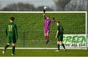 18 January 2020; Shay O'Leary of Republic of Ireland makes a save during the International Friendly match between Republic of Ireland U15 and Australia U17 at FAI National Training Centre in Abbotstown, Dublin. Photo by Seb Daly/Sportsfile