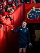 19 January 2020; Conor Murray of Munster is greeted by supporters prior to the Heineken Champions Cup Pool 4 Round 6 match between Munster and Ospreys at Thomond Park in Limerick. Photo by Diarmuid Greene/Sportsfile