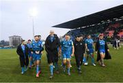 18 January 2020; Leinster players including Robbie Henshaw, Devin Toner and Josh van der Flier following the Heineken Champions Cup Pool 1 Round 6 match between Benetton and Leinster at the Stadio Comunale di Monigo in Treviso, Italy. Photo by Ramsey Cardy/Sportsfile