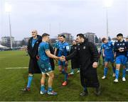 18 January 2020; Josh van der Flier, left, and Cian Healy of Leinster following the Heineken Champions Cup Pool 1 Round 6 match between Benetton and Leinster at the Stadio Comunale di Monigo in Treviso, Italy. Photo by Ramsey Cardy/Sportsfile