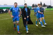 18 January 2020; Ross Molony, left, and Ross Byrne of Leinster following the Heineken Champions Cup Pool 1 Round 6 match between Benetton and Leinster at the Stadio Comunale di Monigo in Treviso, Italy. Photo by Ramsey Cardy/Sportsfile