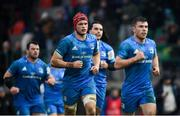 18 January 2020; Luke McGrath and Josh van der Flier of Leinster during the Heineken Champions Cup Pool 1 Round 6 match between Benetton and Leinster at the Stadio Comunale di Monigo in Treviso, Italy. Photo by Ramsey Cardy/Sportsfile
