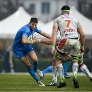 18 January 2020; Ross Byrne of Leinster during the Heineken Champions Cup Pool 1 Round 6 match between Benetton and Leinster at the Stadio Comunale di Monigo in Treviso, Italy. Photo by Ramsey Cardy/Sportsfile