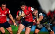 19 January 2020; Sam Arnold of Munster is tackled by Scott Otten of Ospreys during the Heineken Champions Cup Pool 4 Round 6 match between Munster and Ospreys at Thomond Park in Limerick. Photo by Brendan Moran/Sportsfile