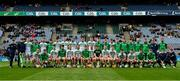 19 January 2020; The Ballyhale Shamrocks panel prior to the AIB GAA Hurling All-Ireland Senior Club Championship Final between Ballyhale Shamrocks and Borris-Ileigh at Croke Park in Dublin. Photo by Seb Daly/Sportsfile