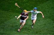 19 January 2020; Séamus Burke of Borris-Ileigh is tackled by Brian Cody of Ballyhale Shamrocks during the AIB GAA Hurling All-Ireland Senior Club Championship Final between Ballyhale Shamrocks and Borris-Ileigh at Croke Park in Dublin. Photo by Ray McManus/Sportsfile