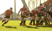 19 January 2020; Craig Casey of Munster goes round a scrum on his way to scoring his side's fourth try during the Heineken Champions Cup Pool 4 Round 6 match between Munster and Ospreys at Thomond Park in Limerick. Photo by Diarmuid Greene/Sportsfile