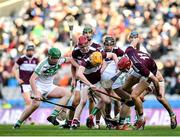 19 January 2020; Players from both side's compete for the sliotar during the AIB GAA Hurling All-Ireland Senior Club Championship Final between Ballyhale Shamrocks and Borris-Ileigh at Croke Park in Dublin. Photo by Seb Daly/Sportsfile