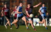 19 January 2020; Liam Rafferty of St Mary's in action against Barry Dan O'Sullivan of UCD during the Sigerson Cup Quarter Final between UCD and St Mary's University College at Belfield in UCD, Dublin. Photo by David Fitzgerald/Sportsfile