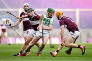 19 January 2020; Eoin Cody of Ballyhale Shamrocks in action against Dan McCormack, left, and Séamus Burke of Borris-Ileigh during the AIB GAA Hurling All-Ireland Senior Club Championship Final between Ballyhale Shamrocks and Borris-Ileigh at Croke Park in Dublin. Photo by Seb Daly/Sportsfile