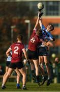 19 January 2020; Peadar O Cofaigh Byrne of UCD in action against Oisin O'Neill of St Mary's during the Sigerson Cup Quarter Final between UCD and St Mary's University College at Belfield in UCD, Dublin. Photo by David Fitzgerald/Sportsfile