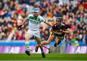 19 January 2020; TJ Reid of Ballyhale Shamrocks in action against Kevin Maher of Borris-Ileigh during the AIB GAA Hurling All-Ireland Senior Club Championship Final between Ballyhale Shamrocks and Borris-Ileigh at Croke Park in Dublin. Photo by Seb Daly/Sportsfile