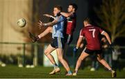 19 January 2020; Ray Connellan of UCD in action against Catháir McKinney of St Mary's during the Sigerson Cup Quarter Final between UCD and St Mary's University College at Belfield in UCD, Dublin. Photo by David Fitzgerald/Sportsfile