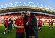 19 January 2020; Craig Casey and Dave Kilcoyne of Munster after the Heineken Champions Cup Pool 4 Round 6 match between Munster and Ospreys at Thomond Park in Limerick. Photo by Diarmuid Greene/Sportsfile