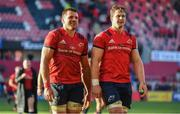19 January 2020; CJ Stander, left, and Arno Botha of Munster after the Heineken Champions Cup Pool 4 Round 6 match between Munster and Ospreys at Thomond Park in Limerick. Photo by Brendan Moran/Sportsfile