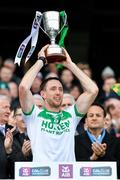 19 January 2020; Ballyhale Shamrocks captain Michael Fennelly lifts the Tommy Moore Cup following the AIB GAA Hurling All-Ireland Senior Club Championship Final between Ballyhale Shamrocks and Borris-Ileigh at Croke Park in Dublin. Photo by Seb Daly/Sportsfile