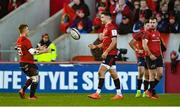 19 January 2020; Conor Murray of Munster passes the ball to team-mate Craig Casey as he comes on to replace him during the Heineken Champions Cup Pool 4 Round 6 match between Munster and Ospreys at Thomond Park in Limerick. Photo by Diarmuid Greene/Sportsfile