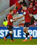 19 January 2020; Craig Casey of Munster comes on to replace team-mate Conor Murray during the Heineken Champions Cup Pool 4 Round 6 match between Munster and Ospreys at Thomond Park in Limerick. Photo by Diarmuid Greene/Sportsfile