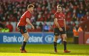 19 January 2020; Ben Healy and JJ Hanrahan of Munster during the Heineken Champions Cup Pool 4 Round 6 match between Munster and Ospreys at Thomond Park in Limerick. Photo by Diarmuid Greene/Sportsfile