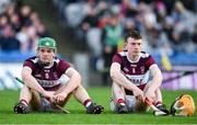 19 January 2020; James Devaney, left, and Tommy Ryan of Borris-Ileigh dejected following the AIB GAA Hurling All-Ireland Senior Club Championship Final between Ballyhale Shamrocks and Borris-Ileigh at Croke Park in Dublin. Photo by Sam Barnes/Sportsfile