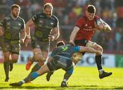 19 January 2020; Jack O'Donoghue of Munster is tackled by Shaun Venter of Ospreys during the Heineken Champions Cup Pool 4 Round 6 match between Munster and Ospreys at Thomond Park in Limerick. Photo by Diarmuid Greene/Sportsfile