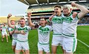 19 January 2020; Ballyhale Shamrocks players, from left, Patrick Mullen, Richie Reid, Brian Butler and Conor Walsh celebrate following their side's victory during the AIB GAA Hurling All-Ireland Senior Club Championship Final between Ballyhale Shamrocks and Borris-Ileigh at Croke Park in Dublin. Photo by Seb Daly/Sportsfile