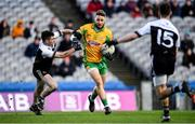 19 January 2020; Micheál Lundy of Corofin in action against Darryl Branagan, left, and Conor Laverty of Kilcoo during the AIB GAA Football All-Ireland Senior Club Championship Final between Corofin and Kilcoo at Croke Park in Dublin. Photo by Sam Barnes/Sportsfile